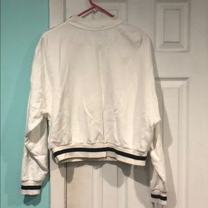 Oversized Adidas sweatshirt with shoulder zip